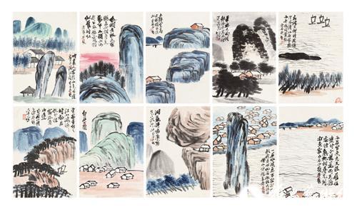 中国嘉德(香港)首拍时的齐白石《山水图册》是以4600万港币成交