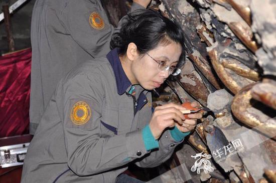 陈卉丽工作十分专注。受访者供图 华龙网发