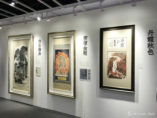 中国嘉德(香港)五周年秋拍中国书画预展现场