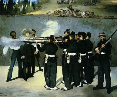 马奈的作品《处决马克西米利安》。