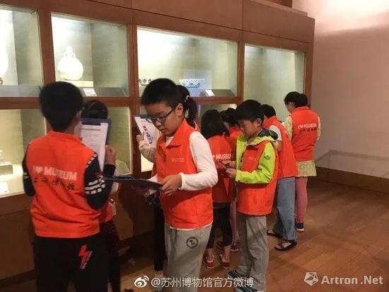 苏州博物馆 假期中的青花瓷课程