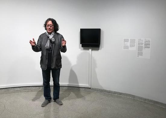 中国艺术家徐冰在解读他已被撤下的作品