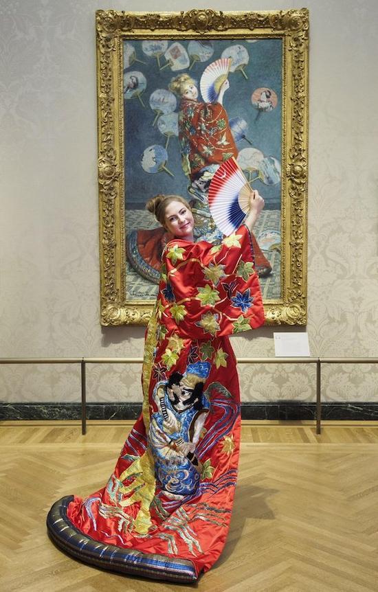 波士顿美术馆对莫奈画作《一个日本女人》的推广活动