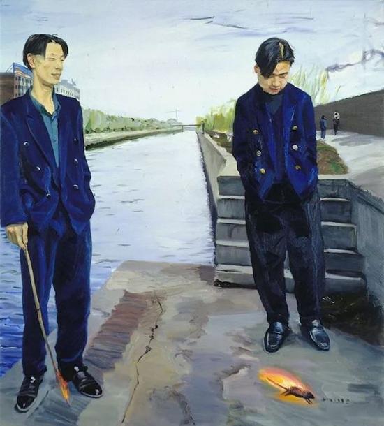 刘晓东《烧耗子》,1998