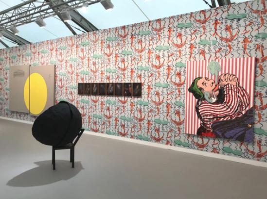 Travesía Cuatro在2017年度弗里兹伦敦的展位,图片:Lorena Mu?oz-Alonso