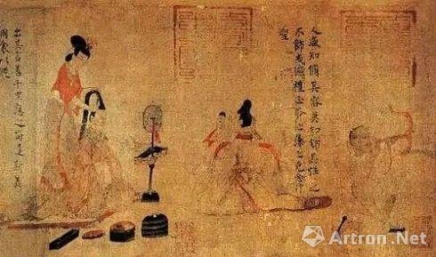 ▲顾恺之《女史箴图》(唐摹本 局部),大英博物馆藏