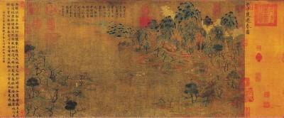 现藏于故宫博物院的隋朝展子虔《游春图》