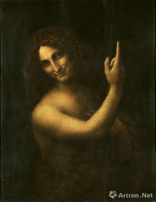 达·芬奇画板油画《施洗者圣约翰》