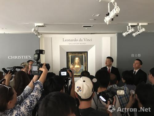 达·芬奇《救世主》香港揭幕引发媒体关注(拍摄:陈奕名)