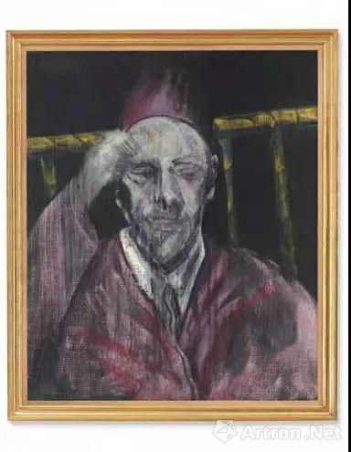 法兰西斯 培根(1909-1992) 《举臂男子头像》 油彩 画布