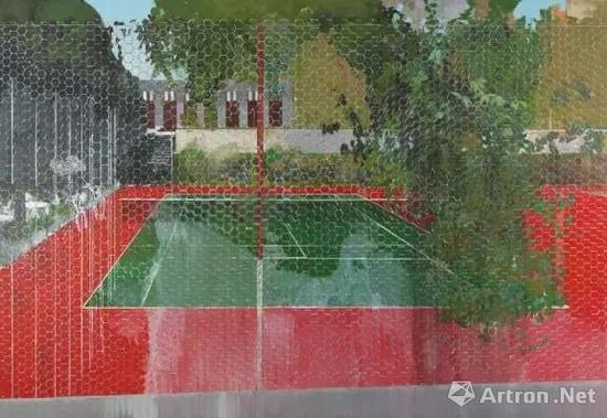 赫尔文 安德森(1965年生) 《山村俱乐部,网,2008》 油彩 画布