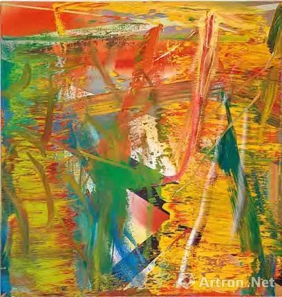 格哈德 李希特(1932 年生) 《抽象画作》 油彩 画布