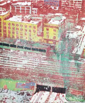 彼得 多伊格(1959年生) 《临近一个城市》 油彩 画布