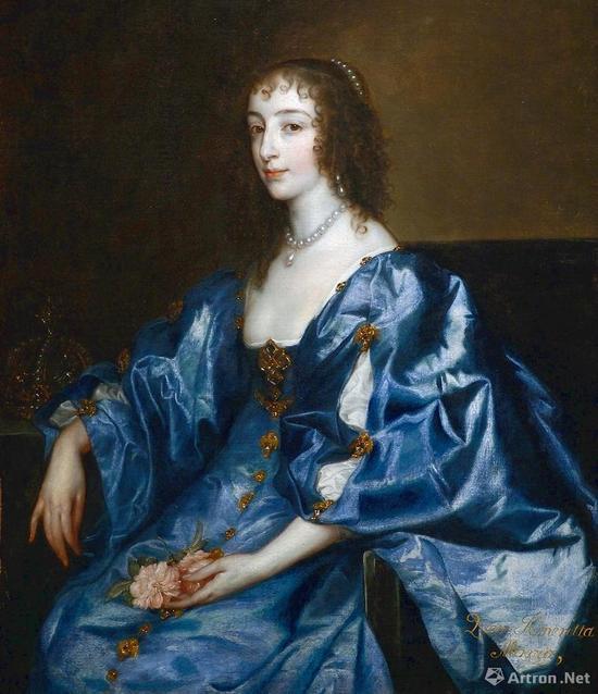 亨利埃塔·玛丽亚(Henrietta Maria of France)将这幅《救世主》带到英国皇室