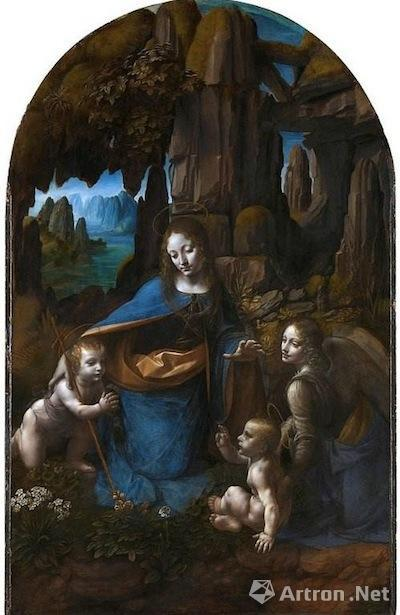 达·芬奇创作于同时期的《岩间圣母》一改之前的宗教画创作,走向世俗化