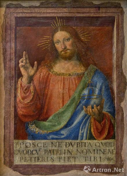 达·芬奇的门生伯纳迪诺?卢伊尼的《耶稣赐福》