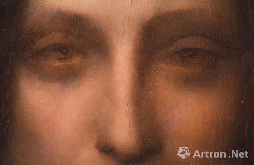 仔细观察《救世主》的眼睛中的达·芬奇密码