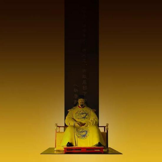 2009 《唐太宗》脱胎漆雕211x178x183cm