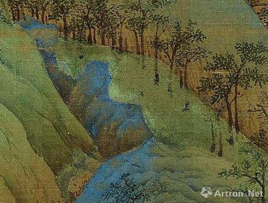 《千里江山图》局部细节图