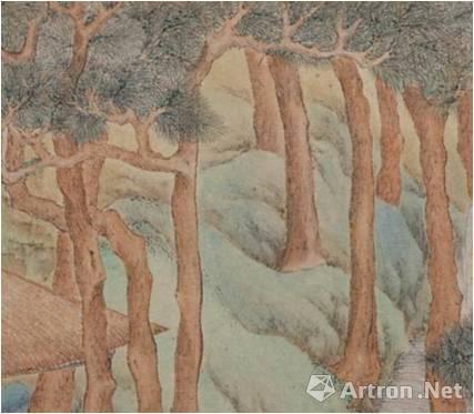文徵明《 惠山茶会图》的赭石色树干