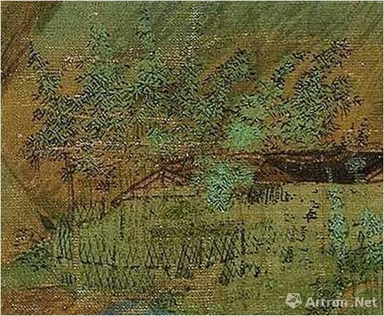 《千里江山图》的竹叶