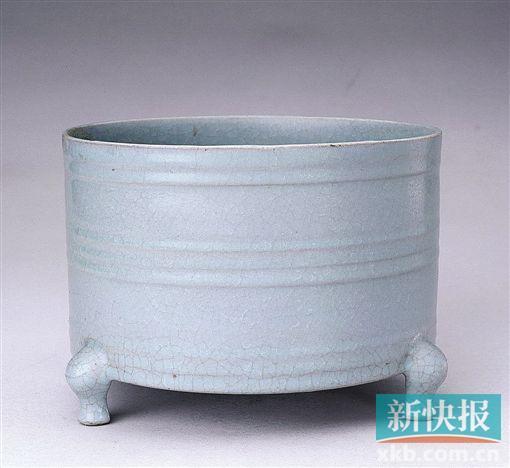 ■汝窑天青釉弦纹樽 北京故宫博物院藏