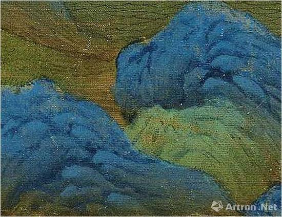 《千里江山图》对山石的分染
