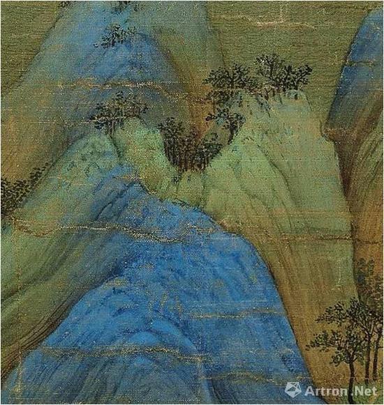 《千里江山图》的峰头结构