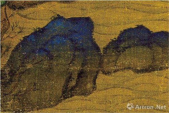 李思训(传)《江帆楼阁图》的山石分染