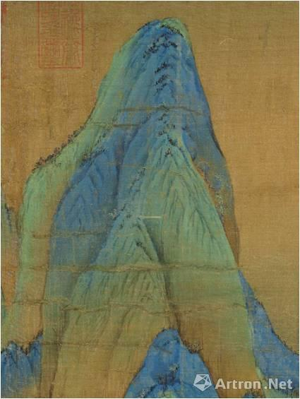 《千里江山图》的笔色结构