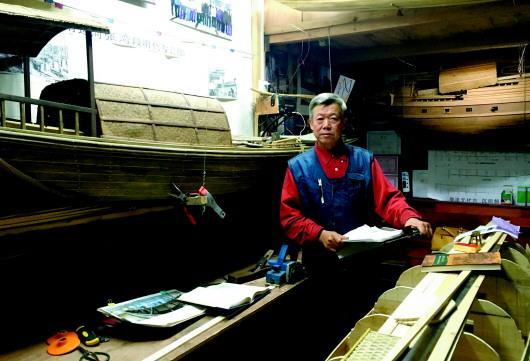 起凤桥街4号院内尚津济的工作室,两艘古船模型就在这里制作而成。