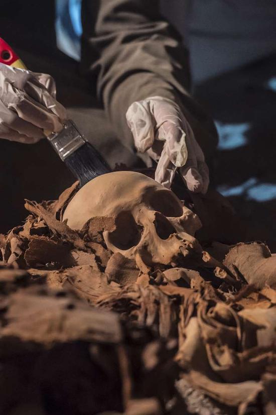 专家们仔细检查了墓主的遗骸,发现他死于50多岁,生前患有颚骨脓肿、细菌性骨骼疾病等多种病症。