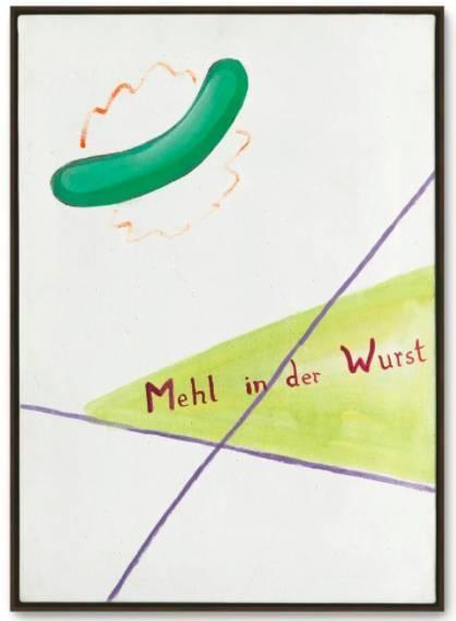 Polke的Mehlinder Wurst(Flourinthe Sausage) (1964) 在佳士得以920,750英镑售出。图片:courtesy of Christie's