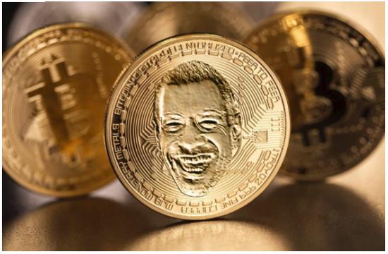 如果豪瑟沃斯画廊能那么做,我也可以。K-硬币(作者指他本人名字首字母打头的硬币)。图片:courtesy of Kenny Schachter