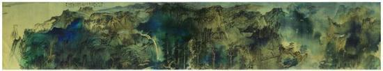 张大千十米巨幅《庐山图》