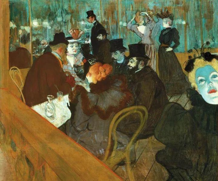 《在红磨坊》,1892年,现藏于芝加哥美术学院。