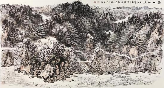 《茶山如波》[98cmX180cm]2013年