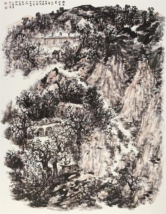 《杨家沟之夏》[174cmX133.6cm]2007年