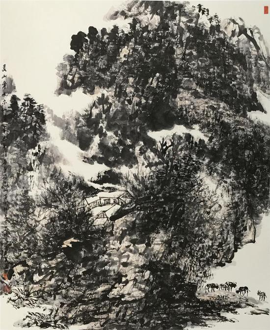 《灵山秀水亦仙居》[213cmX174cm]2001年