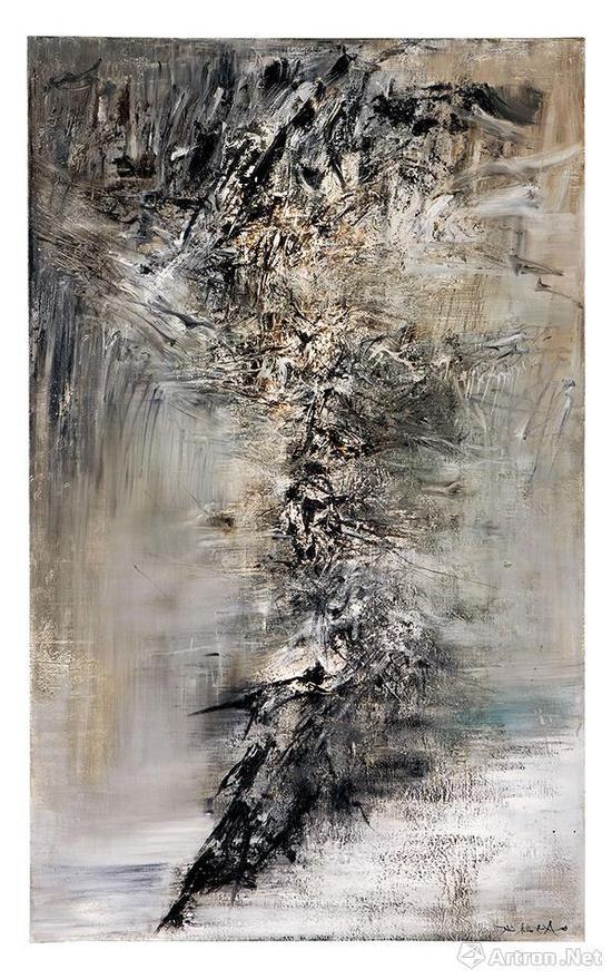赵无极《24.03.59-31.12.59》布面油画 162.3×99.5cm 1959年 2017香港保利秋拍成交价:6136万港元