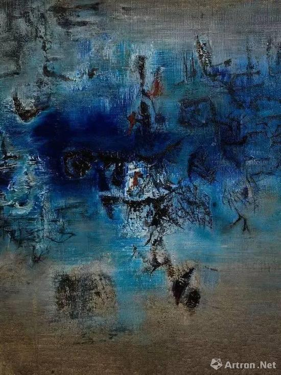 在2017年的巴塞尔艺博会上,赵无极1957年的作品《深水》于列维·戈尔韦画廊成交