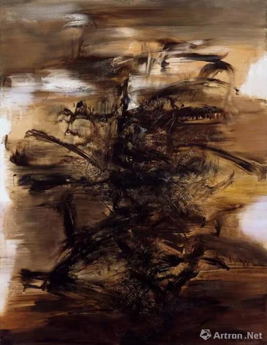 于2017香港佳士得上拍的赵无极《29.01.64》油彩画布260 x 200 cm。 1964年作,估价:8500万-1.25亿港元
