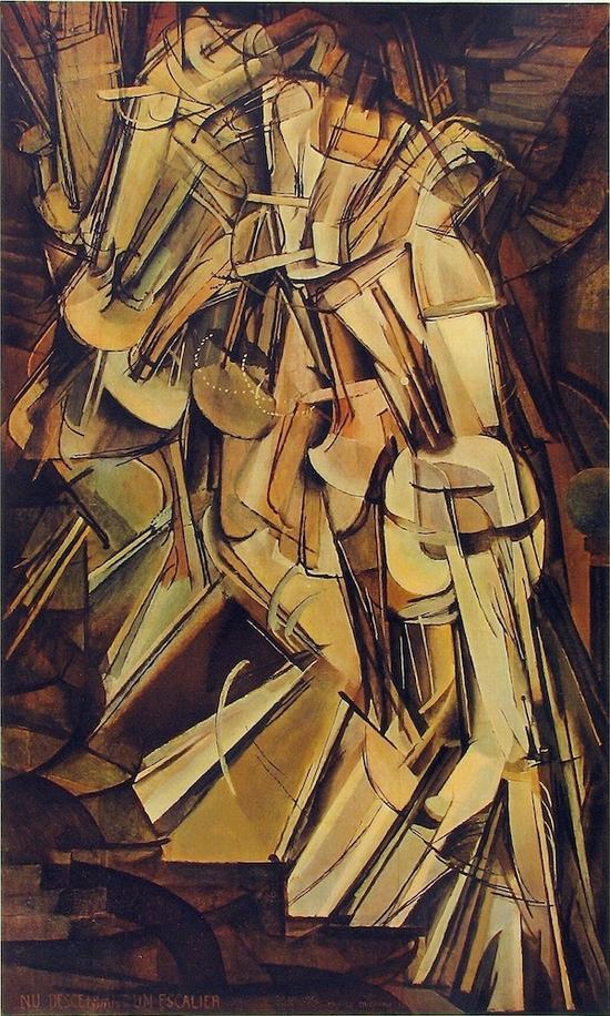 下楼梯的裸女,杜尚,1912年
