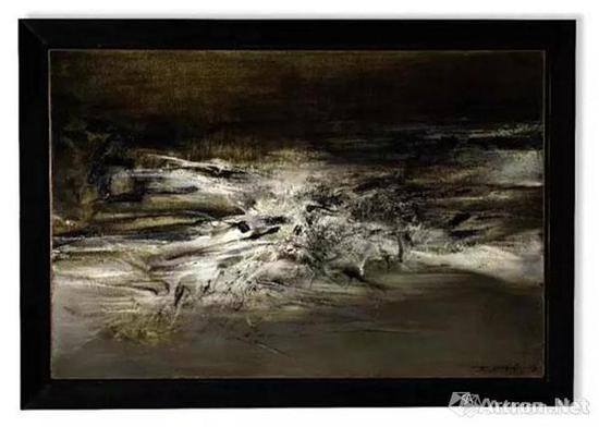 2017年香港苏富比秋拍中,赵无极1963年作品《09.01.63》以7603万港元成交