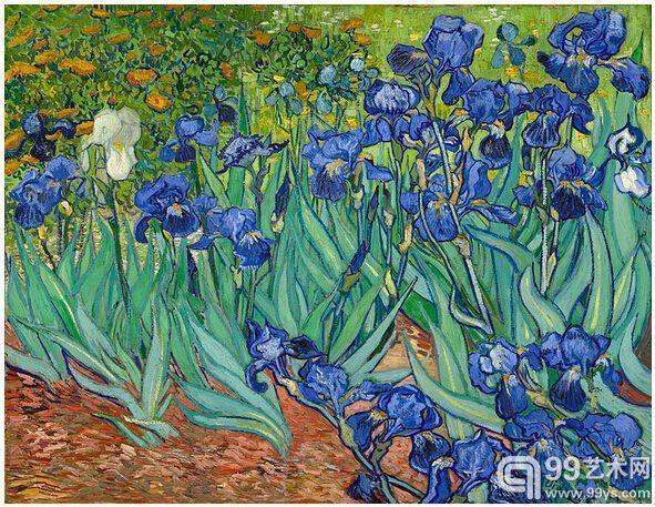 7.《鸢尾花》(Irises,1889),5390万美元