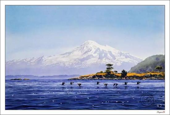 女画家的水彩一眼就能看出不同的气候