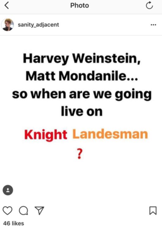 艺术家Liam Neff在Instagram Live上的截图。图片:艺术家