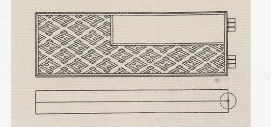 叠几折叠成扁盒时的状态