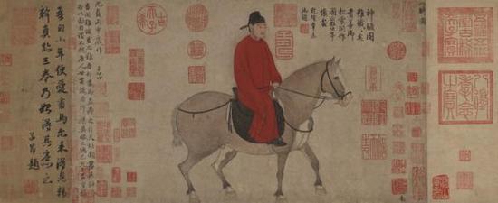 赵孟頫《人骑图卷》