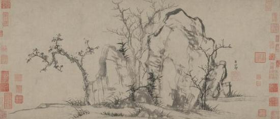 赵孟頫《秀石疏林图》